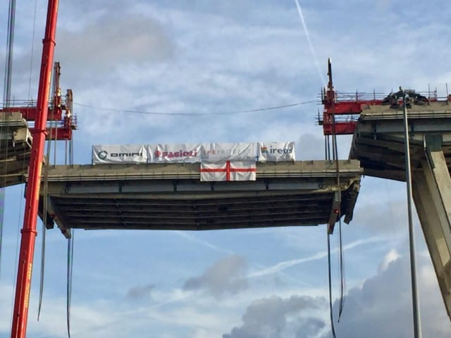 Ponte Morandi, oggi verrà rimossa la seconda trave
