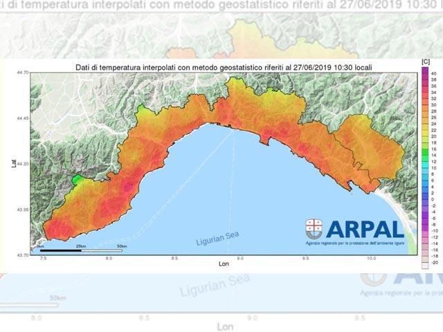 Meteo Liguria - Picco di calore, limitare l'esposizione per anziani e bambini