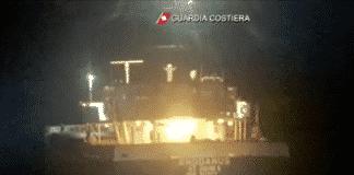 nave rhodanus incagliata Corsica