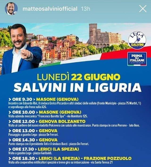 Matteo Salvini sbaglia indirizzo