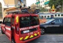 incendio treno Genova Sturla
