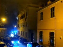 incendio Cornigliano via Tonale