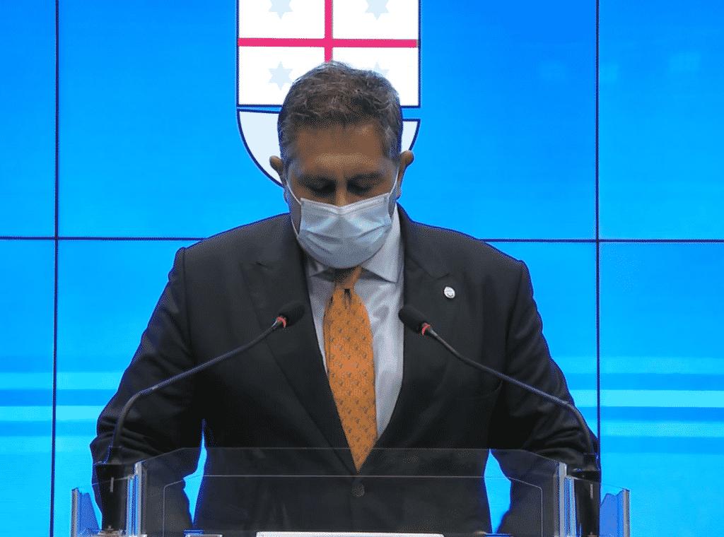 Giovanni Toti mascherina