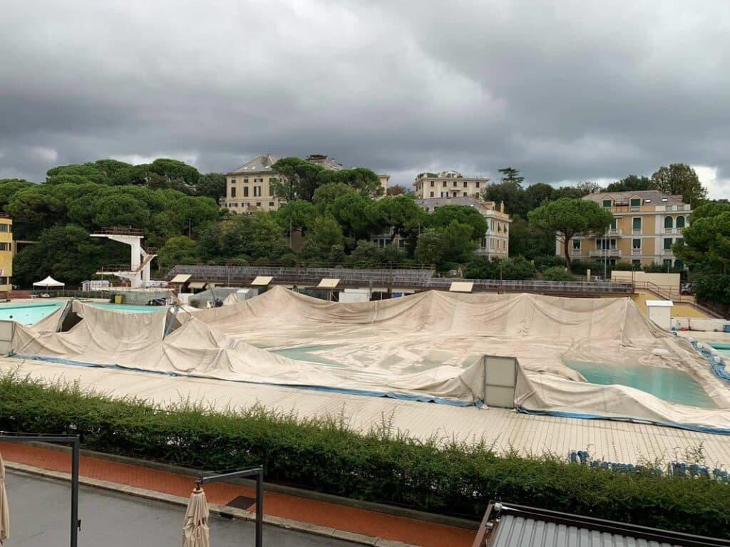 piscine albaro danneggiate