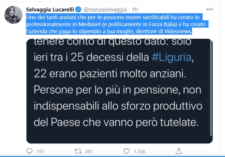 gaffe Toti selvaggia Lucarelli