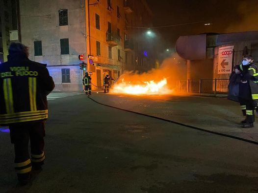auto fiamme, Pontedecimo