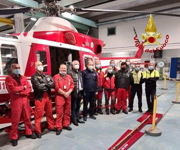 vigili fuoco elicottero Bucci