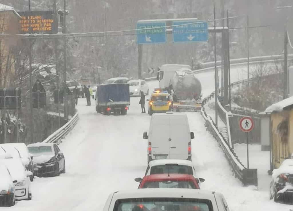 neve autostrade liguria