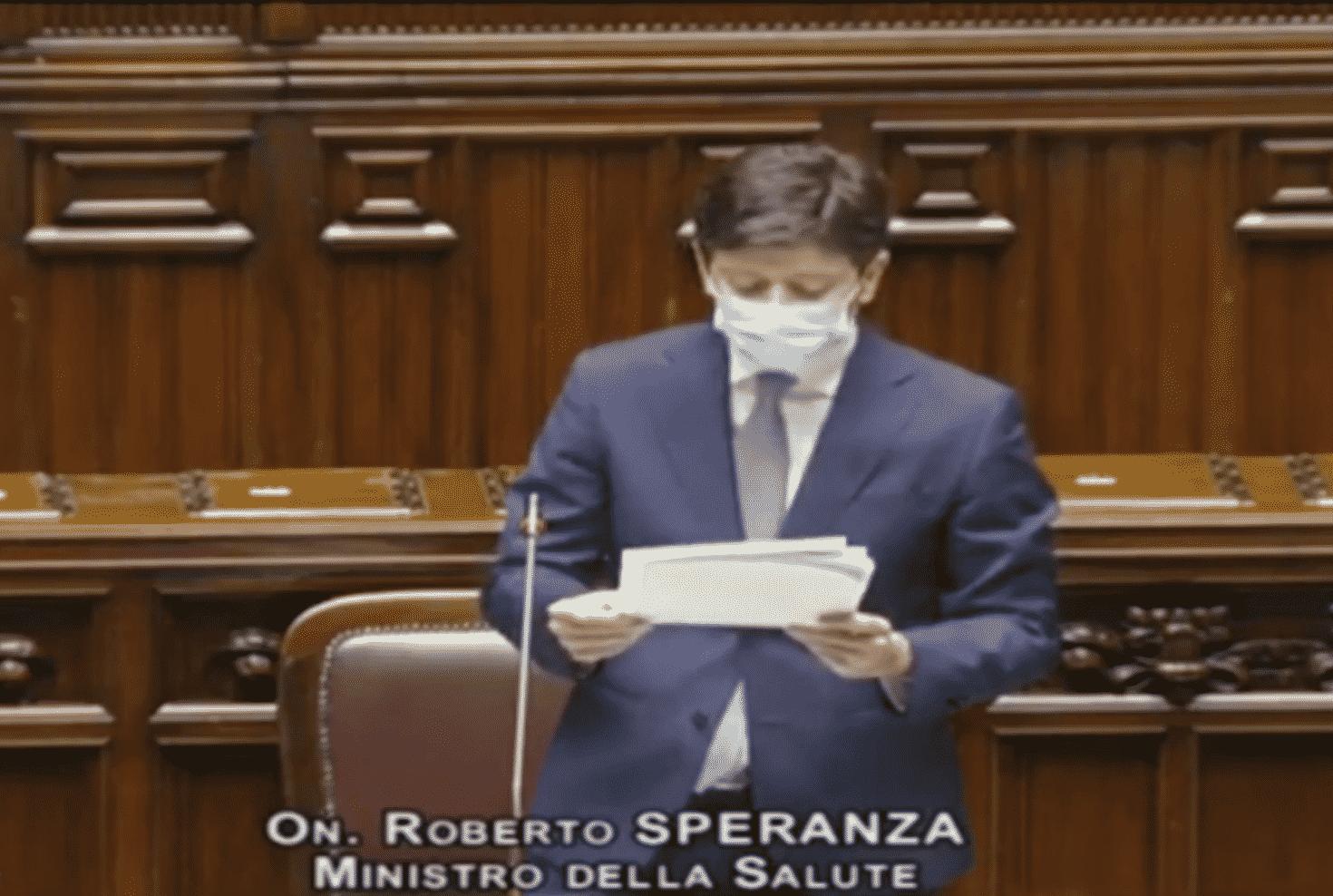 Camera intervento Roberto Speranza