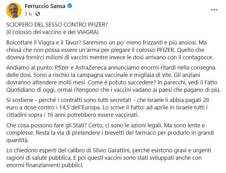 sciopero sesso Viagra Sansa