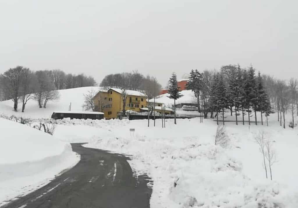 Casa del Romano, monte Antola, neve