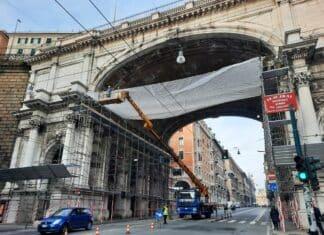 Ponte Monumentale cantiere restauro