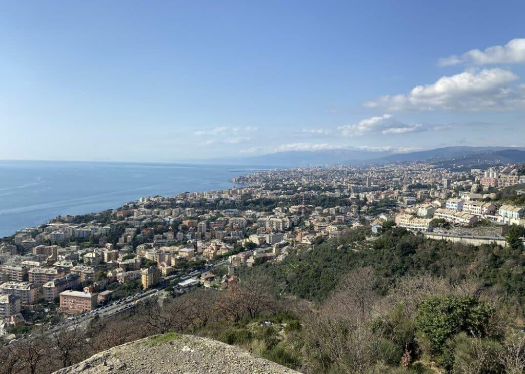 Genova vista monti