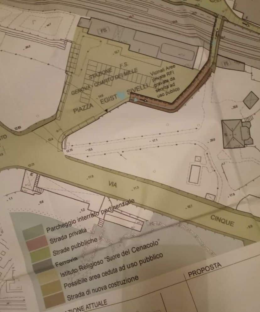 progetto parco monumento strada stazione quarto