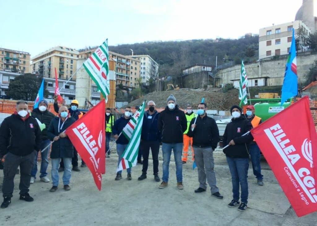 scolmatore Bisagno sciopero