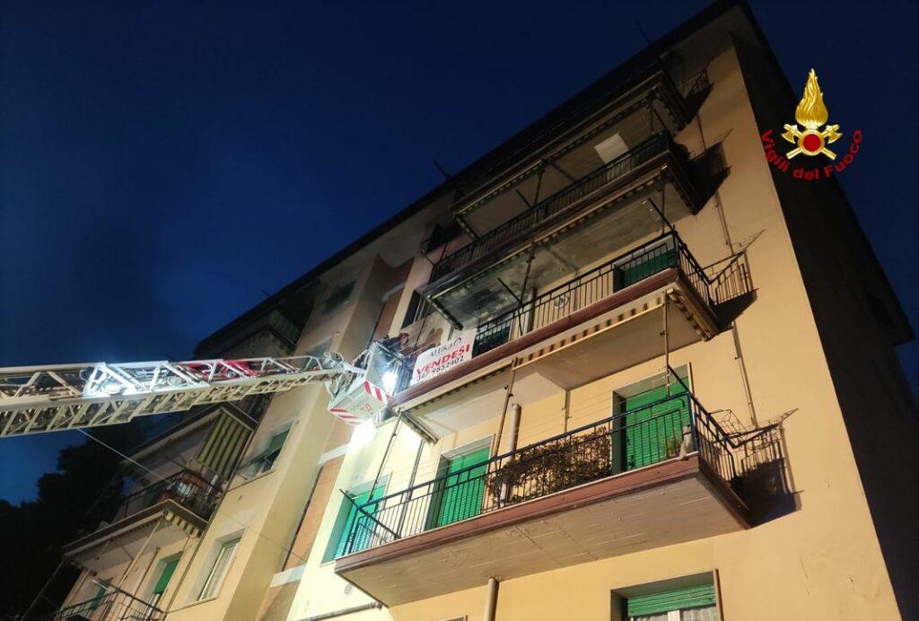 incendio via dei Pini La Spezia