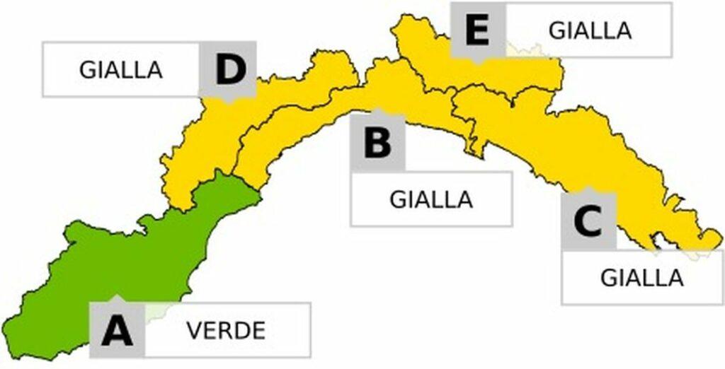 allerta gialla D, B, E, C