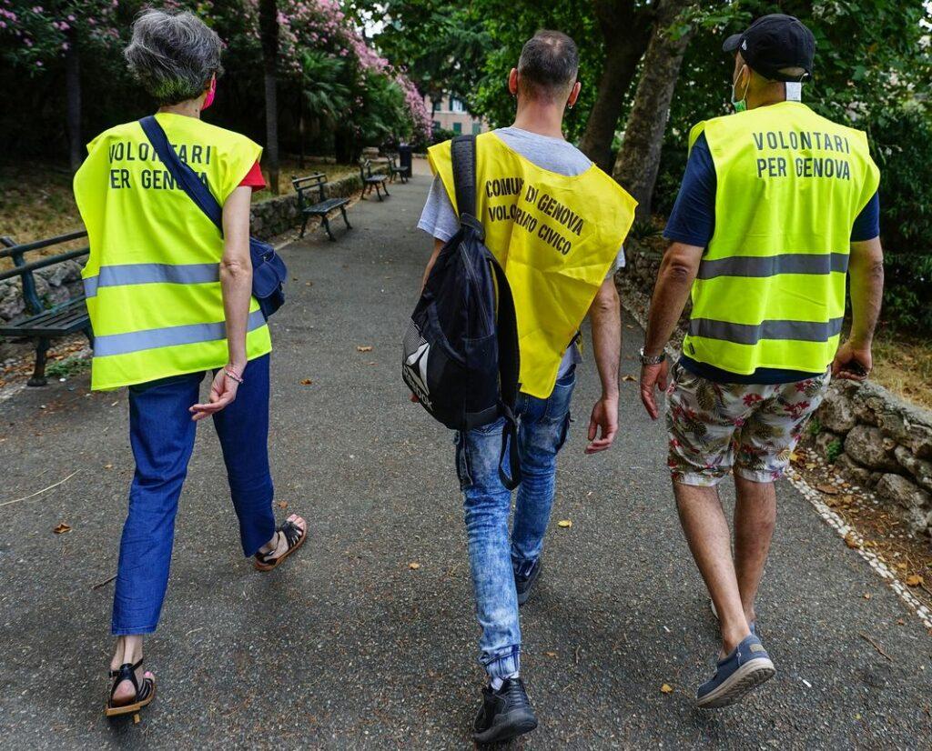 volontari reddito cittadinanza Genova