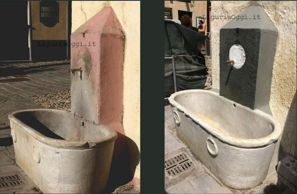 Boccadasse fontana restauro
