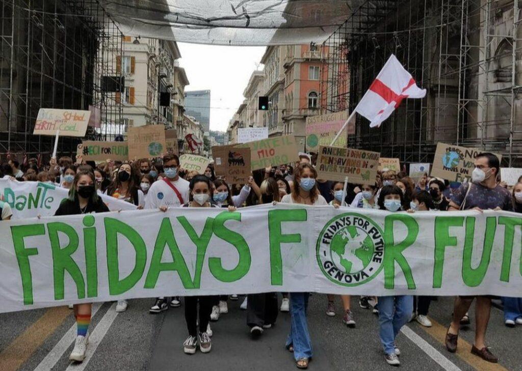 Fridays for future Genova manifestazione