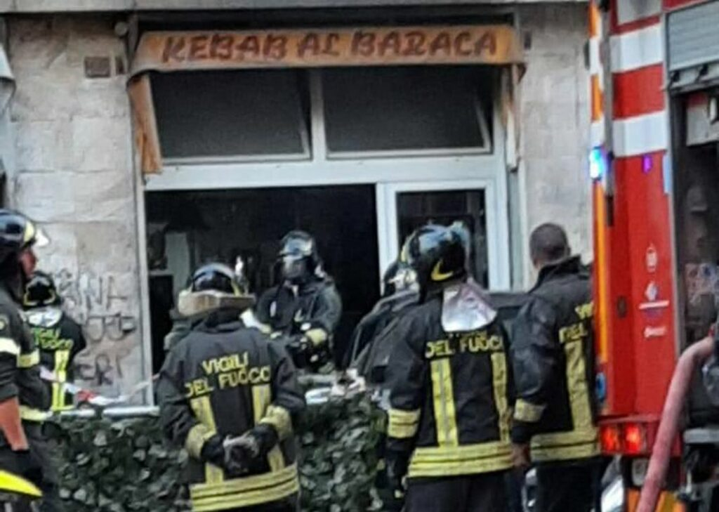 Marassi incendio kebab al Baraka